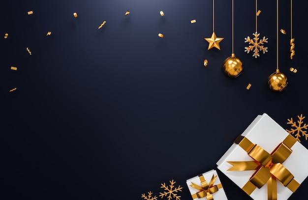 3d-rendering.kerst- en nieuwjaarsconcept