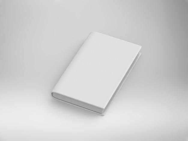 3d-rendering leeg omslagboek op witte achtergrond