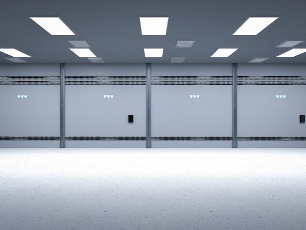 3d rendering lege kamer interieur of leeg platform