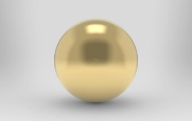 3d-rendering. luxe gouden metalen bol