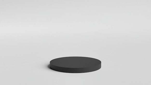 3d-rendering minimaal podium voor productvertoning.
