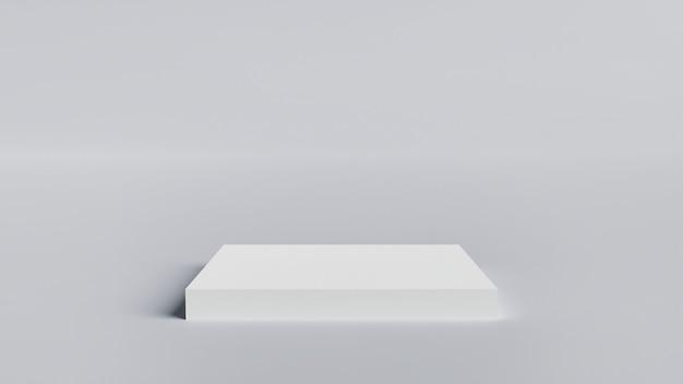 3d-rendering minimale achtergrond, scène met podium