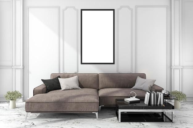 3d-rendering mock up frame in de woonkamer studio