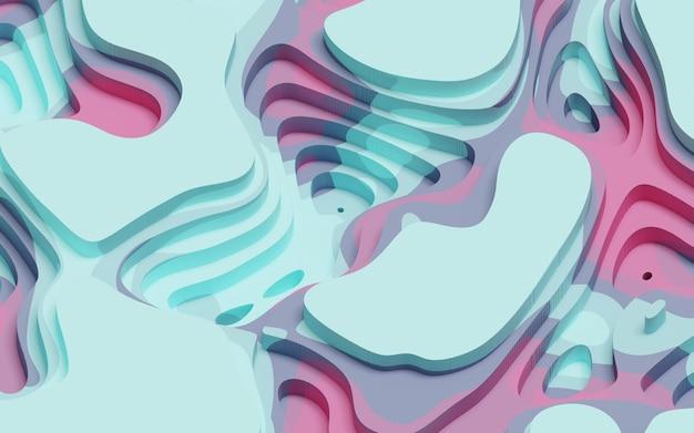 3d-rendering modern abstract papier gesneden kleurrijk