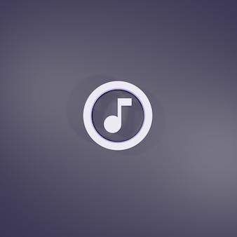 3d-rendering muziek cirkel omtrek teken
