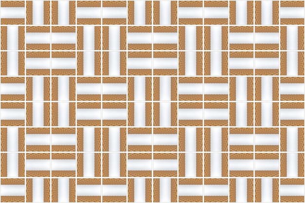 3d-rendering. naadloze moderne houten vierkante rooster patroon ontwerp tegels muur achtergrond.