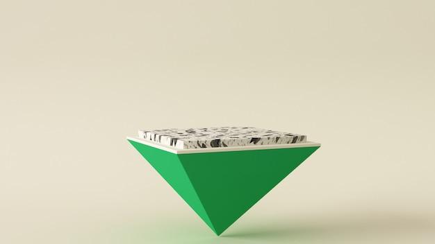 3d-rendering podium, abstracte geometrie vorm