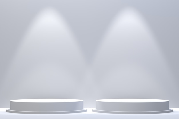 3d-rendering, podium minimale abstracte achtergrond voor cosmetische productpresentatie, abstracte geometrische vorm