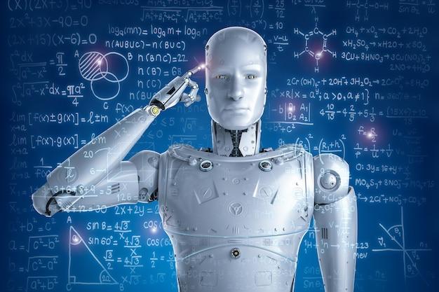 3d-rendering robot leren of problemen oplossen