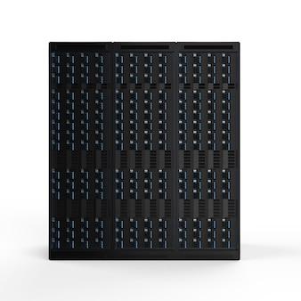 3d-rendering servercomputer op witte achtergrond