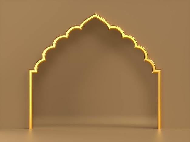 3d-rendering sierlijke frame