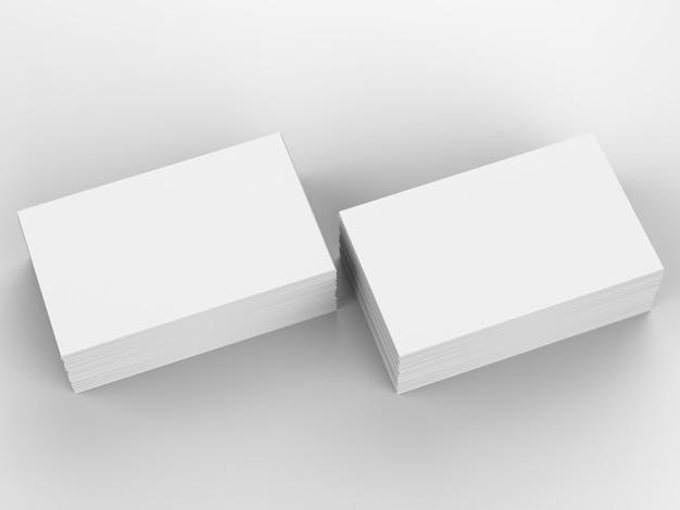 3d-rendering stapel lege naamkaartjes