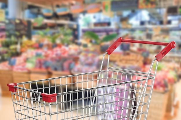 3d-rendering winkelwagentje in supermarkt
