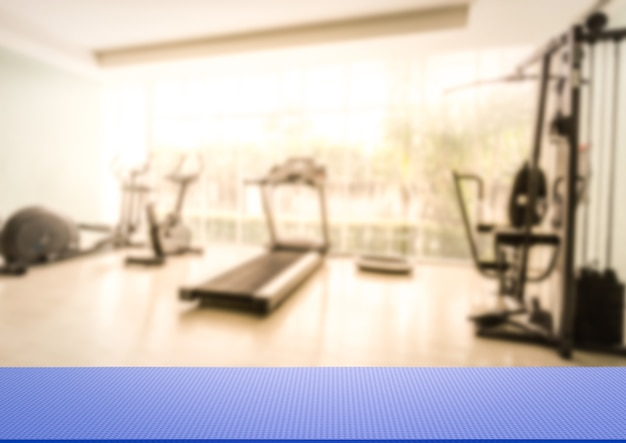 3d-rendering yogamat op fitness gym achtergrond