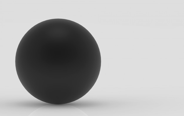 3d-rendering. zwart metalen bol