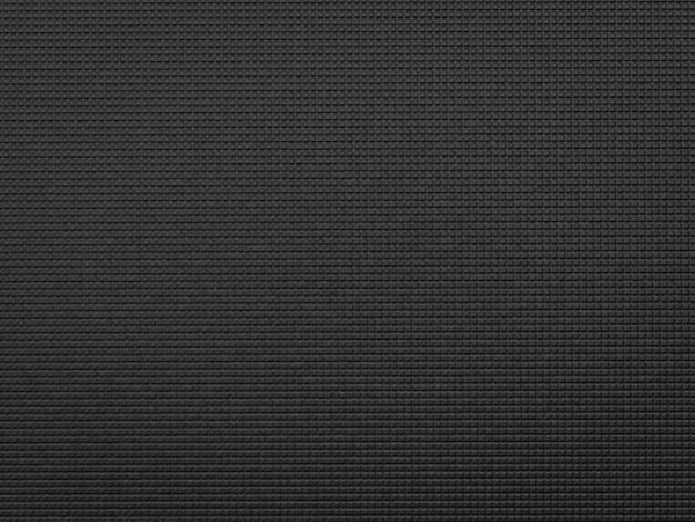 3d-rendering zwarte yogamat achtergrond of yogamat bovenaanzicht