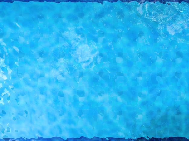 3d-rendering zwembad bovenaanzicht of zwembad achtergrond