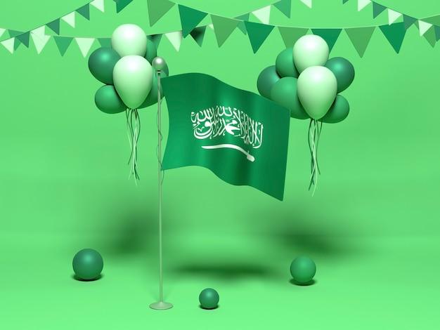 3d-renderontwerp voor saoedische nationale feestdag met kopieerruimte