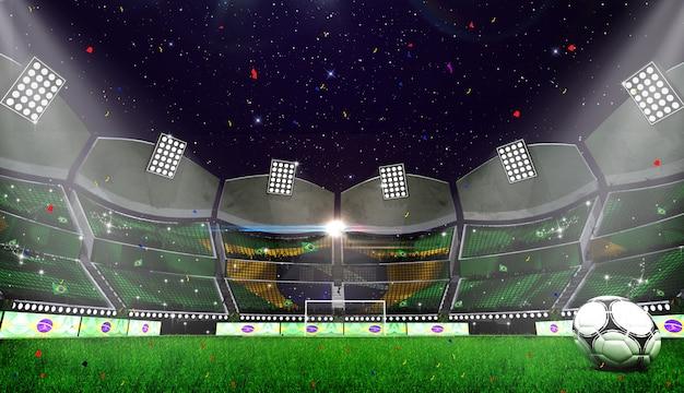 3d rendring van stadionachtergrond