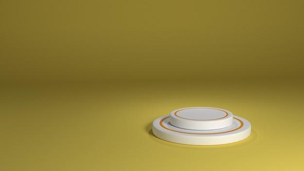 3d rond geel podium voor productplaatsing