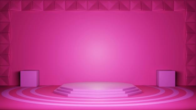 3d-roze achtergrond, abstracte textuurstijl, kan worden gebruikt in omslagontwerp, boekontwerp, poster, flyer, website-achtergrond of reclame.