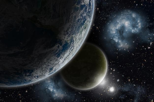 3d-ruimteachtergrond