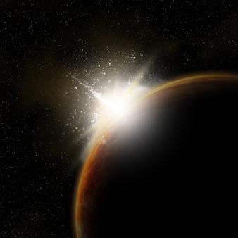 3d ruimteachtergrond