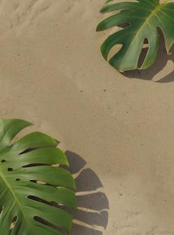 3d-samenstelling van groene palmbladeren