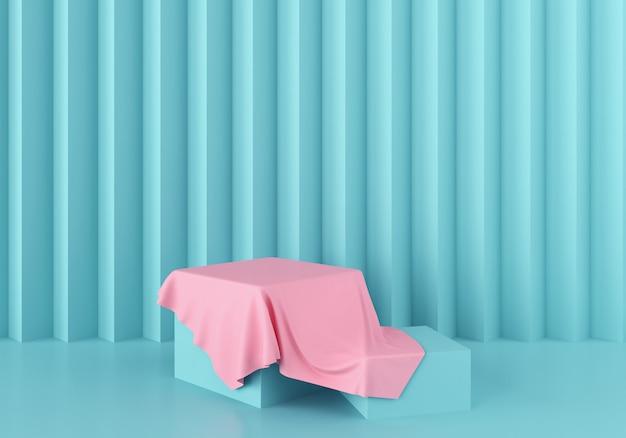 3d-scène rendering van geometrische vorm abstracte achtergrond.
