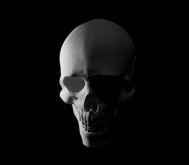 3d schedel illustratie griezelig helloween eng donkere horror