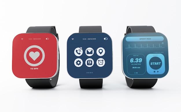 3d smart-horloges