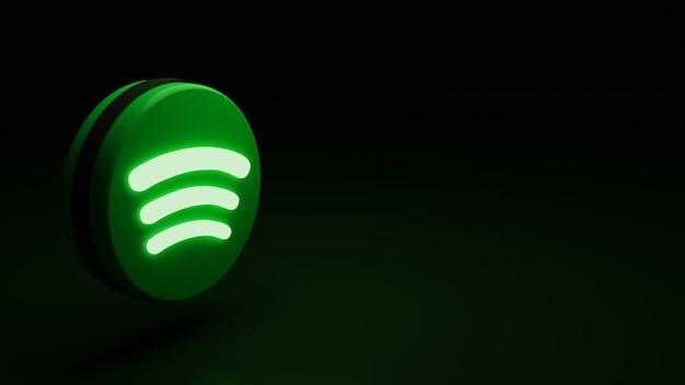 3d spotify logo icoon hoge kwaliteit render