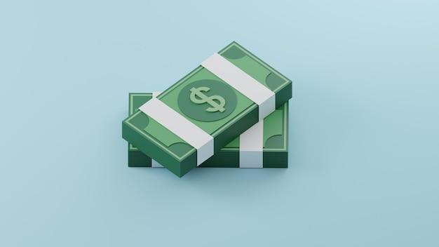 3d stapel bankbiljetten