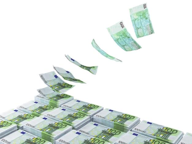 3d-stapel euro's die zich opstapelen