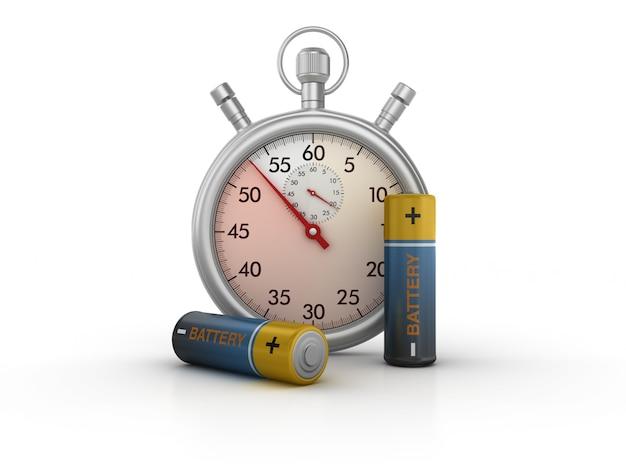 3d-stopwatch met aa-batterijen