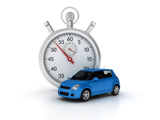 3d-stopwatch met auto