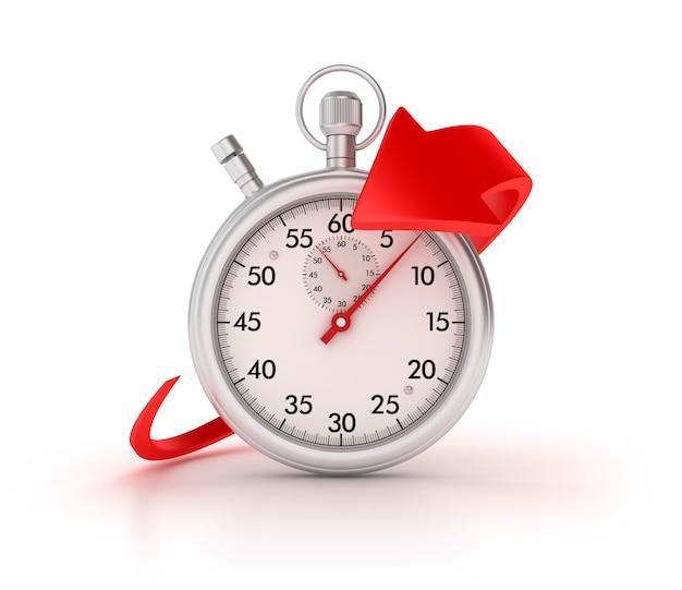 3d-stopwatch met pijl