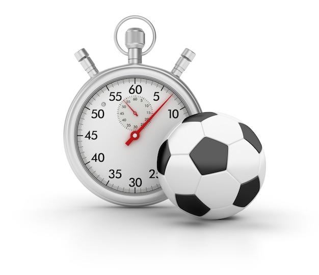 3d-stopwatch met voetbal
