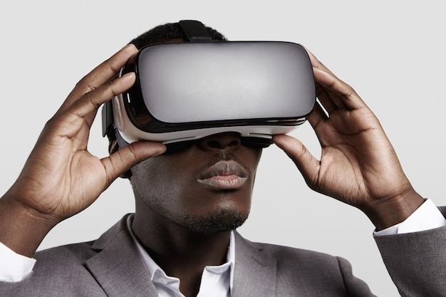 3d-technologie, virtual reality, entertainment, cyberspace-concept.
