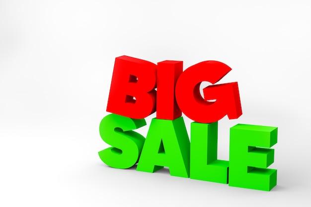 3d tekst grote verkoop bord