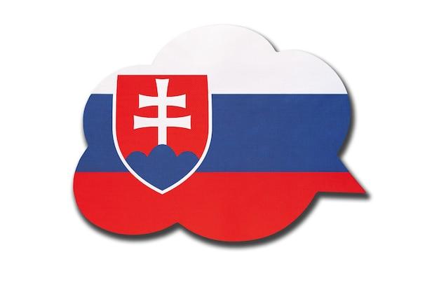 3d tekstballon met de nationale vlag van slowakije