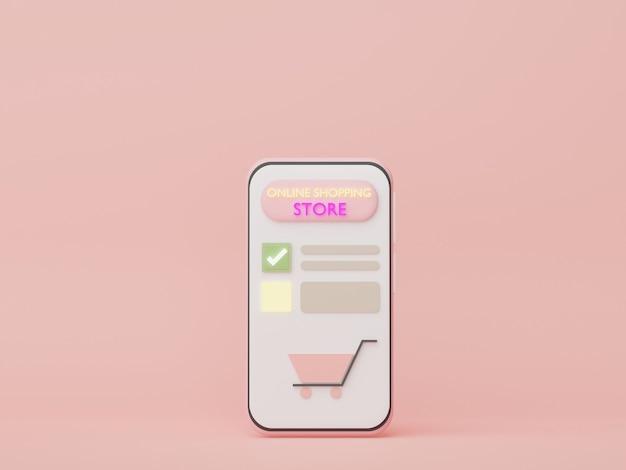 3d-telefoon met geldconcepten financiële planning online winkelen vermogensbeheer franchises