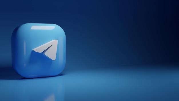 3d-telegram toepassingslogo