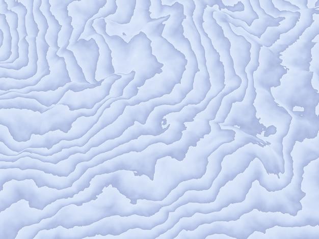 3d teruggegeven abstracte topografische contourlijnen.