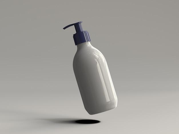 3d teruggegeven plastic pompfles zonder een etiket