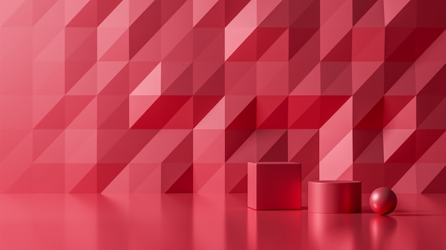 3d teruggevende luxe nieuwe abstracte rode kleur als achtergrond, 3d illustratie