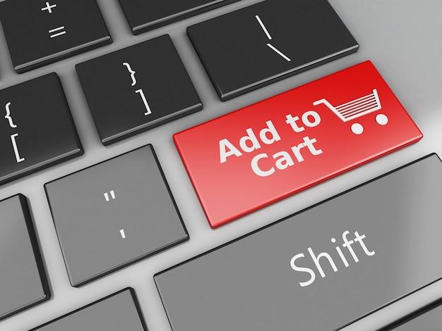 3d toetsenbord met toevoegen aan winkelmandje knop