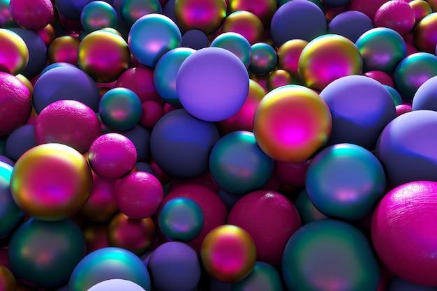 3d vakantie illustratie kleurrijke ballen bubbels achtergrond creatieve evenement banner