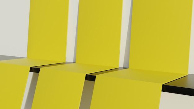 3d val papier platform voor productvertoning