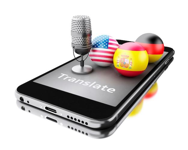 3d vertaal vreemde talen op smartphone.